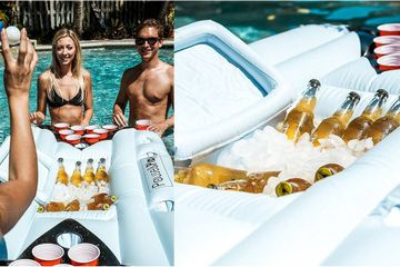 You Can Buy Beer Pong Pool Floats on Amazon, So Your Summer Just Got 10 Times More Lit