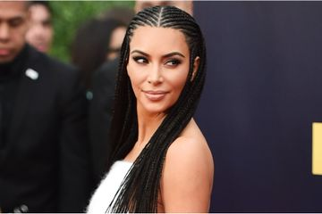 Kim Kardashian Causes a Stir in Cornrows at the MTV Movie and TV Awards