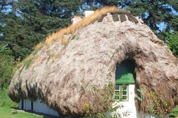 Live in this charming seaweed house on a Danish island