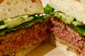 "Plant-based ""Impossible Burger"" to hit grocery store shelves next year"