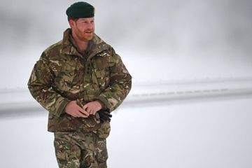 Prince Harry Hangs Out in an Igloo Surrounded by Pictures of Meghan Markle - Yes, Really