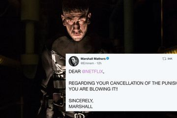 "Eminem Has 1 Thing to Say to Netflix About The Punisher's Cancellation: ""YOU ARE BLOWING IT"""