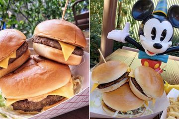 So, Here's the Thing: Disney Is Selling a Mickey Burger That's Topped With 2 Sliders
