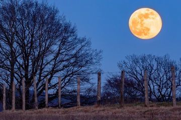 Rare supermoon coincides with the first day of spring