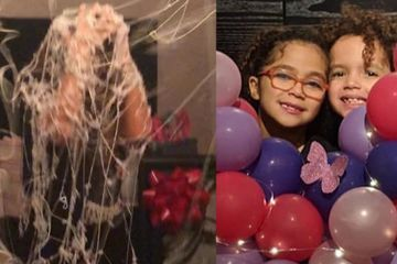 "LOL! Mariah Carey's Kids Spray Her With Silly String on Her Birthday: ""You Hate Me!"""