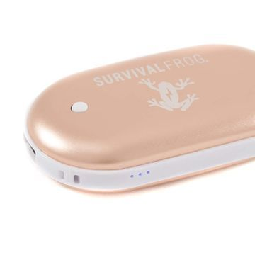 This Rose Gold Rechargeable Hand Warmer Will Save Your Cold Hands