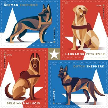 USPS unveils 2019 stamps honoring military dogs