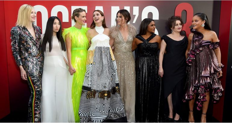 The Ocean's 8 Cast Cannot Stop Fangirling Over Rihanna, and Honestly