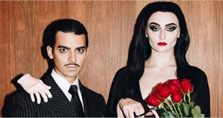 Joe Jonas and Sophie Turner's Morticia and Gomez Addams Costumes Were to Die For